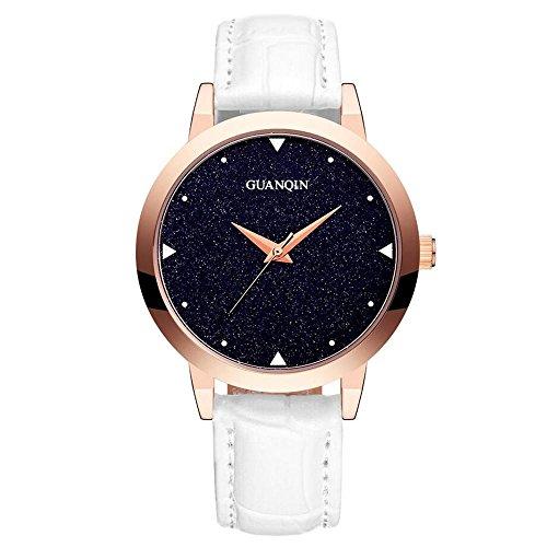 GUANQIN Women 's cinghia Student orologio al quarzo in pelle GS19051 , black - Womens Diamante Orologio Automatico