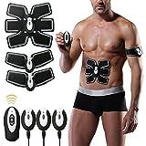 Muskelstimulator, Elektrostimulation MuskelTrainer EMS Gerät EMS TrainingSgerät Fitness Bauch Einfache Fitness Leicht zu tragen für Männer Frauen Geschenk(USB-Ladung)