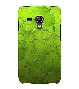 Leaf Design Pattern 3D Hard Polycarbonate Designer Back Case Cover for Samsung Galaxy S3 Mini :: Samsung Galaxy S3 Mini i8190