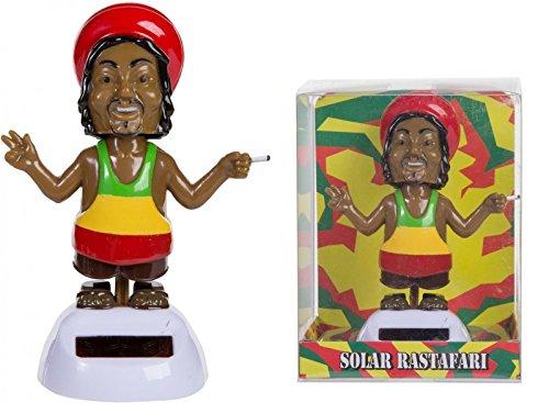 Rastafari Solarfigur - Rasta Man Solar Figur Rasta Mann Wackelfigur Dekoration (Peace-zeichen Rasta)