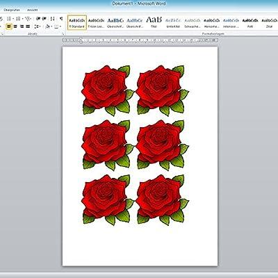 2 Blatt Special FX Tattoofolien für Inkjet/Tintenstrahl- und Laserdrucker DIN A4