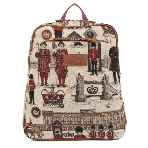 Signare Royal Guard Damen Tapisserie Big Rucksack Rucksack Laptop-Tasche