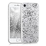 kwmobile Apple iPhone 7/8 Hülle - Handyhülle für Apple iPhone 7/8 - Handy Case in Silber Transparent