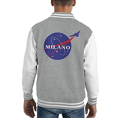 Guardians Of The Galaxy Milano Nasa Logo Kid's Varsity Jacket