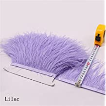 Flecos de plumas de avestruz de 34 colores para hacer sombreros o vestidos Lilac