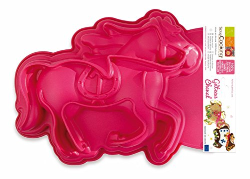 Scrapcooking 3161 Cheval Moule Silicone Rose 28,5 x 22,6 x 4 cm