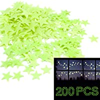 Pack of 200 Home Wall Ceiling Glow in The Dark Stars Stickers Decal Baby Kids Bedroom