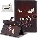 iPad Mini 1/2 / 3 Hülle Braun,TOCASO Hülle Schutzhülle für iPad Mini 1/2 / 3 Tasche Wallet Cover Case Premium Slim Leder Handyhülle und Magnet Auto Sleep Wake Up Rückseite -Weißer Leopard