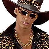 NET TOYS Hip Hop Kette Gangster Halskette Pimp 60 cm Zuhälter Goldkettchen Goldkette Lude