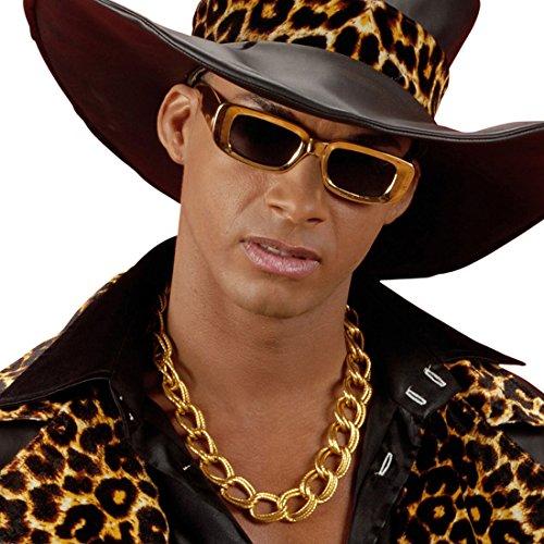 Amakando Halskette Pimp - 60 cm - Zuhälter Goldkettchen Schmuckkette Proll Goldkette Lude Proleten Halsschmuck Hip Hop Kette Gangster