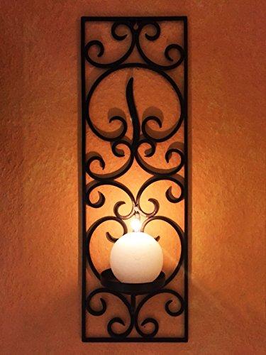 Marokkanischer Wandkerzenhalter Kerzenleuchter Araminta klein - 59cm