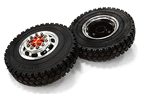 Integy RC Model Hop-ups C26572RED Machined Alloy T5 Front Wheel