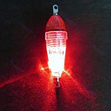 juxinuk 1pc Mini LED Deep Drop Fish Lure luz intermitente lámpara (Rojo)