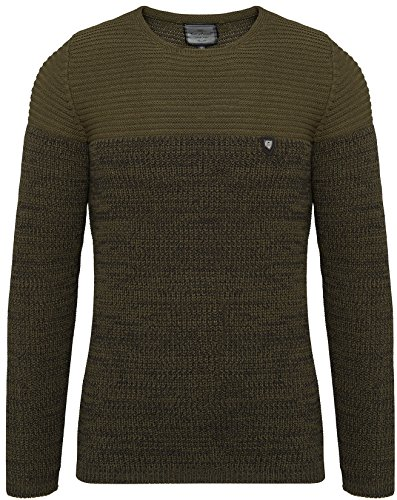 CRSM Carisma Herren - Strickpullover 7288 Streetwear Menswear Autumn/Winter Knit Knitwear Sweater Carisma Fashion (XL, Khaki)