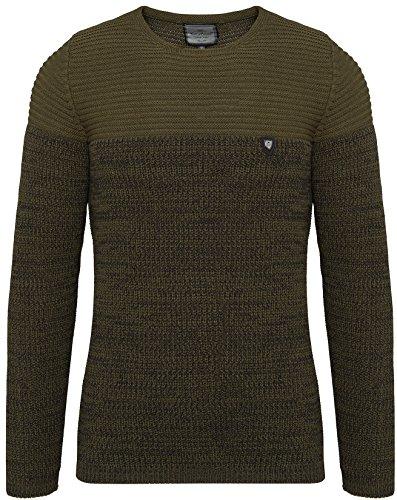 CRSM Carisma Herren - Strickpullover 7288 Streetwear Menswear Autumn/Winter Knit Knitwear Sweater Carisma Fashion (L, Khaki)