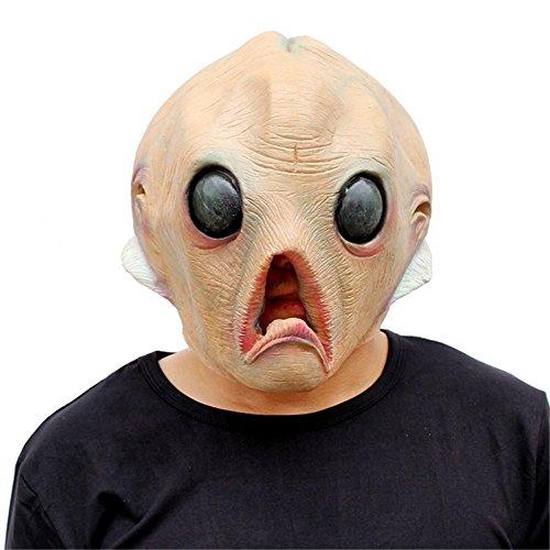 SQCOOL Halloween Masken Weihnachten Lustige Alien Köpfe Set Party Spiele Make-up Ball (Diy Alien Kostüm Mädchen)