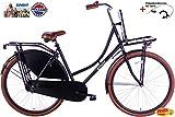 Damenrad Spirit Omafiets 28 Zoll schwarz-matt mit Träger vorne 53 cm + gratis Handremse vorne