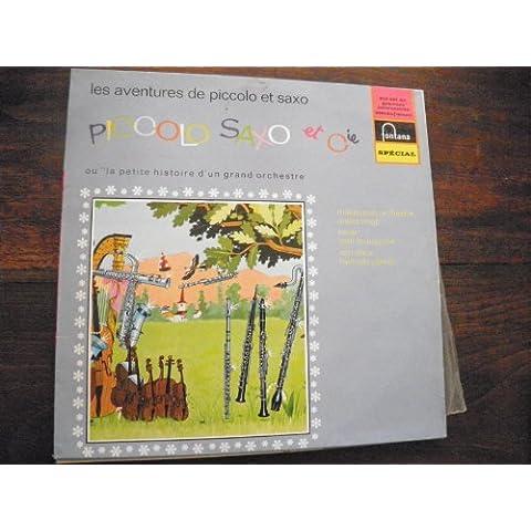 les aventures de Piccolo saxo et Cie n° 1 André Popp - Jean Brousolle - François Perrier - disque Fontana