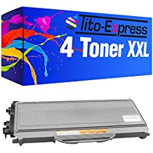 PlatinumSerie® 4x cartucho de tóner compatible con Brother TN-2120 Black MFC-7320 MFC-7320 W MFC-7340 MFC-7440 N MFC-7440 W MFC-7840 W Lenovo LJ 2200