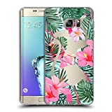 Head Case Designs Flamingos Wilder Wald Soft Gel Hülle für Samsung Galaxy S6 Edge+ / Plus