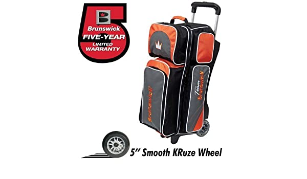 Slate//Orange by Brunswick Team Brunswick 3 Ball Deluxe Roller Bowling Bag