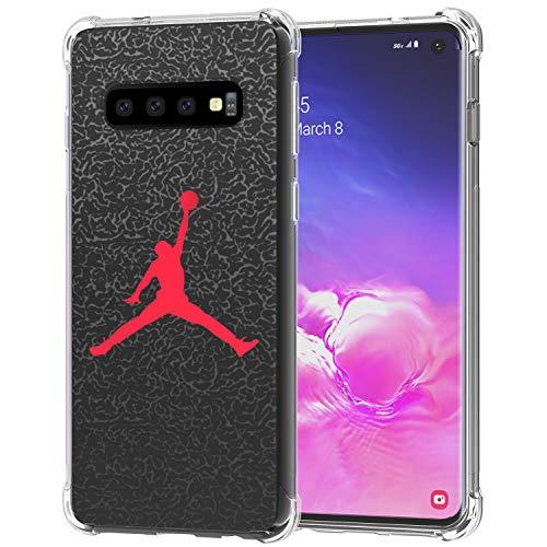 Galaxy S10 Hülle, Ailiber Dünnes leichtes Design, stoßdämpfend, weiche TPU-Bumper-Schutzhülle für Samsung Galaxy S10 6.1 Zoll, Basketball -