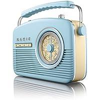 Akai A60010Bl Portable 4 Band Retro FM Radio, 14 W - Blue - ukpricecomparsion.eu