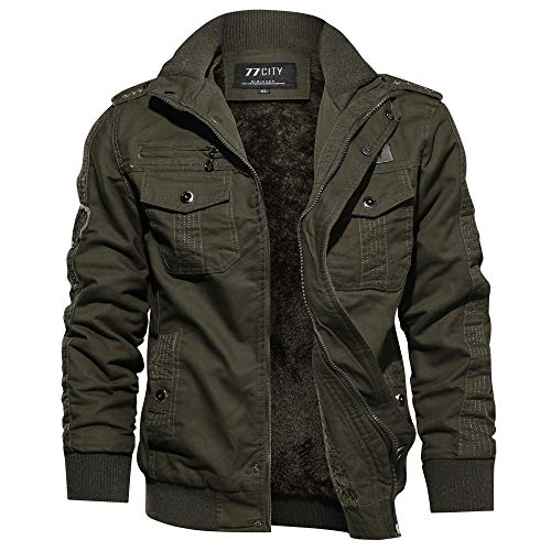 Yvelands Herren Mantel Jacke Winter Military Clothing Pocket -