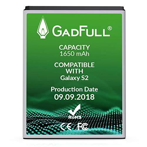 GadFull Batteria compatibile con Samsung Galaxy S2 | 2018 Data di produzione | Corrisponde al EBF1A2GBU originale | Compatibile con Galaxy S2 i9100 | S2 Plus i9105 |Galaxy R i9103 |Galaxy Z