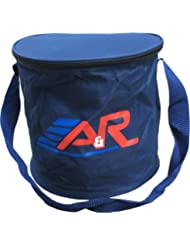 A&R Heavy Duty Canvas Team Ice Hockey Puck Carry Bag W Shoulder Strap Holds 50