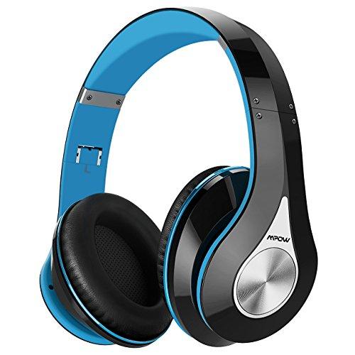 funkkopfhoerer mit ladestation Mpow Bluetooth Kopfhörer Over-Ear Wireless Headset mit integriertem Geräuschunterdrückung-Mikrofon und weichem Ohrpolster, Dual 40mm Treiber, 20 Stunden Spielzeit, 3,5 mm AUX, On-Ear Steurung