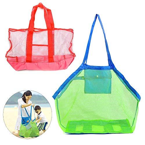 JZK 2X Aufbewahrung Tasche Netz Sandspiel Netztasche Sandspielzeug Tasche Für Strand, Schwimmen, Bootfahren, Reise, 2 Größen