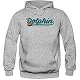 True Dolphin #5 Premium-Hoodie  Herren   Super Bowl   Play Offs   Football Hoodies   Kapuzenpullover, Farbe:Graumeliert;Größe:3XL