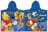 Disney Winnie Pooh Poncho Kapuzenbadetuch 60x120 cm (Dunkelblau)