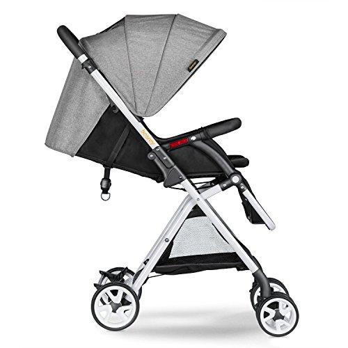 Besrey Buggy Pushchair stroller Sportwagen Kinderwagen Babywagen für Kinder 6 Monate - 3 Jahren alt - mit Sonnenverdeck - 3 Färben - grau - NEU Version