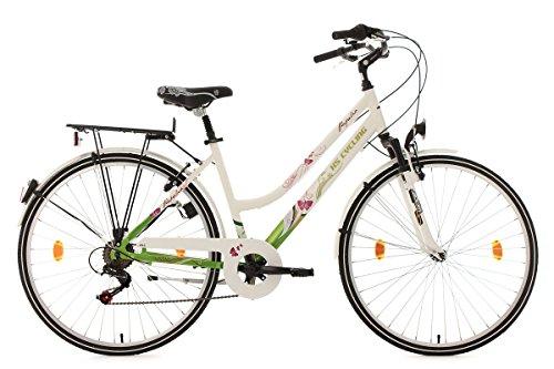 KS Cycling Damen Fahrrad Papilio Alu Rahmen Weiß, 28 Zoll