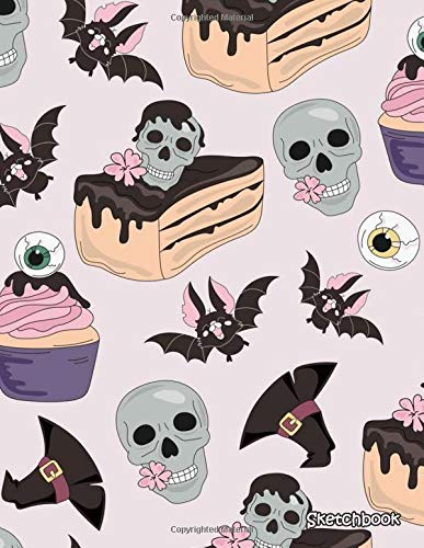 n Sketch Book Halloween Spooky Skull Sketchbook for Girls 120 Pages of 8.5