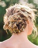 Aukmla cerimonia nuziale di cristallo fascia capelli Vine–color oro accessorio per capelli