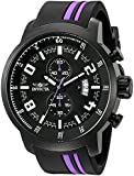 Invicta Men's S1 Rally 51mm Multicolor Polyurethane Band Steel Case Quartz Black Dial Analog Watch 20219