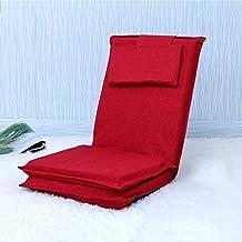 wysm Sofá perezoso 52 * 167cm cama plegable japonés con sofá solo de vuelta silla de ventana de aleteo ( Color : Rojo )