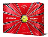 Callaway Chrom Weich Golf Bälle (12Stück) (2018Version), Unisex, Chrome Soft, Gelb