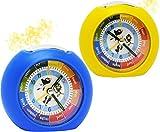 Kinderwecker / Lernwecker - ' mit LICHT + -1 Minuten Schritten ' - Anzeiger - für Kinder Wecker - Alarm für Jungen - Analog Lernuhr - Schulanfang / Schultüten Geschenk