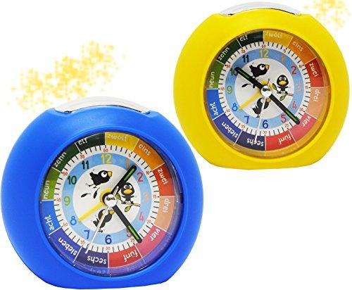 alles-meine.de GmbH Kinderwecker / Lernwecker -  mit Licht + -1 Minuten Schritten  - Anzeiger - für Kinder Wecker - Alarm für Jungen - Analog Lernuhr - Schulanfang / Schultüten Geschenk (Alarm Geschenk)