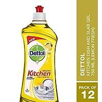 Dettol Kitchen Dish and Slab Gel Lemon Fresh 12 units x 750 ml