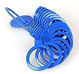 Ringmaß aus Kunststoff, Messgerät für den Durchmesser von Ringen Blau - 2