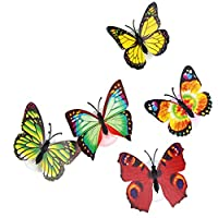 VECDY Christmas Accessories Gift Colorful Changing Butterfly LED Night Light Lamp Home Room Party Desk Wall Decor (20pc)
