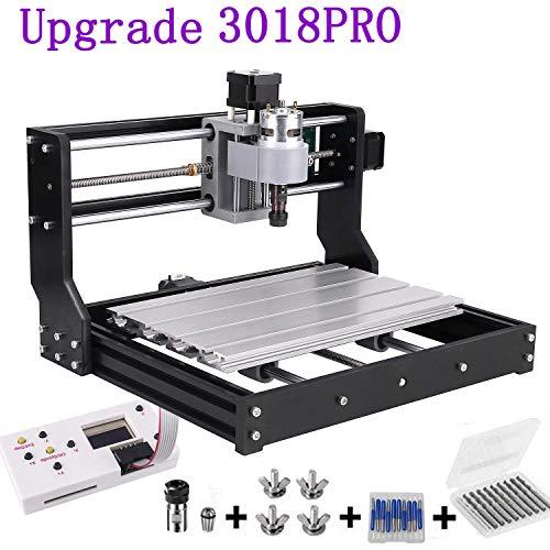 Upgrade CNC 3018 Pro GRBL Steuerung DIY Mini CNC Maschine, Mcwdoit Holz Router Stecher Mit Offline Controller, Mit ER11, 5mm Verlängerungsstange Und 20pcs 3.175mm Bits