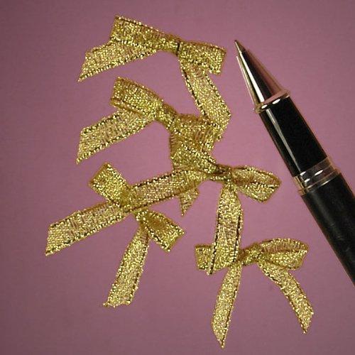 Gold Metallic Lurex Bow Tie, 1-1/8 by Paper Mart