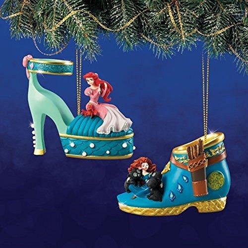 disney-once-upon-a-slipper-ornament-set-13-ariel-and-merida