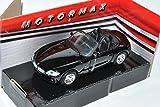 Motormax BMW Z4 E85 Cabrio Schwarz Roadster 2002-2008 1/43 Modell Auto mit individiuellem Wunschkennzeichen
